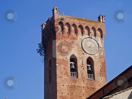 Tuscan bell tower  stock photo, Tuscan bell tower by Jaime Pharr
