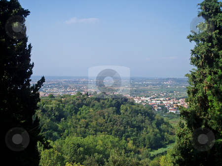 Tuscan vista    stock photo, View of valley in Tuscany Italy by Jaime Pharr