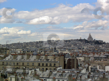 View of Paris stock photo, View of Paris, Montmartre and Sacre Coeur by Jaime Pharr