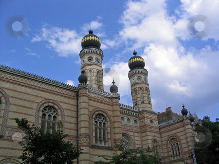 Budapest synagogue  stock photo, The Great Synagogue in Doh??ny Street, Budapest by Jaime Pharr