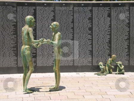 Holocaust memorial in Miami Beach Florida stock photo, Holocaust memorial in Miami Beach Florida by Jaime Pharr