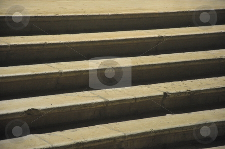 Marble staircase stock photo, Venice marble staircase by night by Jaime Pharr