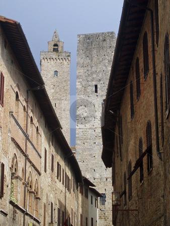 San Gimignano stock photo, Towers of San Gimignano Italy by Jaime Pharr