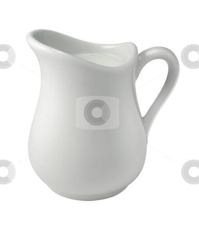 Cream (Creamer) stock photo, Cream in a Creamer isolated with a clipping path by Danny Smythe