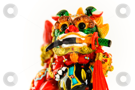 Dragon Dog stock photo, An Asian Guardian Dragon Dog by Ben Havilland