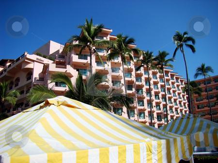 Beachfront resort in Mexico stock photo, Mexican resort in Puerto Vallarta, on the Pacific coast. by Fernando Barozza