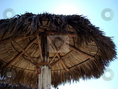 Under a beach hut stock photo, Hut on the beach. Resort on the Pacific coast of Mexico. by Fernando Barozza