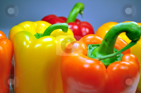 Peppers stock photo, Fresh vegetables: photo of multicolor peppers by Fernando Barozza
