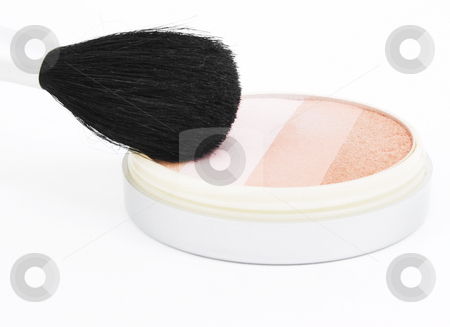 Blush and Brush stock photo, Blush and brush on a white background by John Teeter