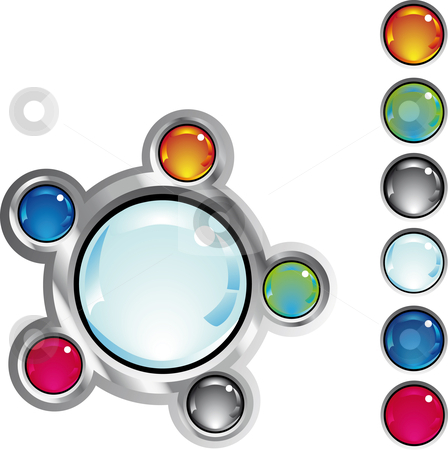 Colorful fantasy web buttons stock vector clipart, Colorful glossy fantasy web buttons in different colors by Karin Claus