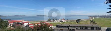 San Francisco bay stock photo, Panoramic view of San Francisco bay by Jaime Pharr
