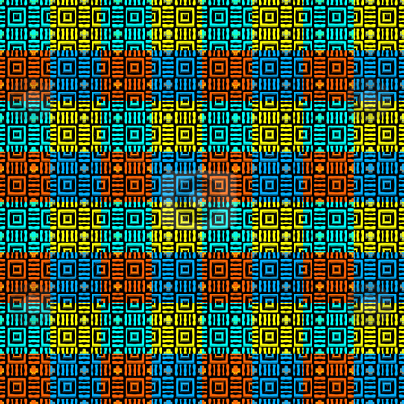 Abstract vibrant blocks pattern stock photo, Seamless texture of bright colored blocks with texture by Wino Evertz