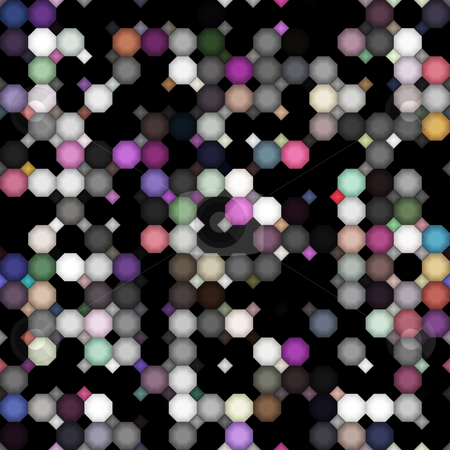 Dark dirty colored dots pattern stock photo, Seamless texture of black and colored grunge shapes by Wino Evertz