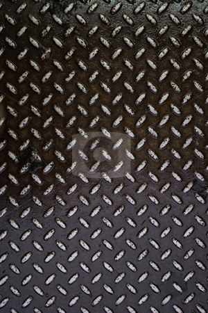 Weathered Diamond Plate stock photo, Closeup of real diamond plate material - this is a photo not an illustration. by Todd Arena