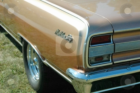 64 Chevelle Rear Gold stock photo, This is the rear of a 64 Chevelle. by Joe Shortridge