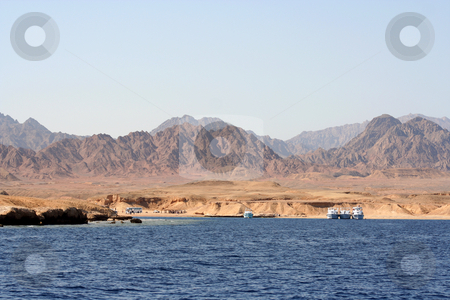Red Sea Coastal View stock photo, Showing the barren desert region of the Sinai Peninsula around the Red Sea, Egypt by Helen Shorey