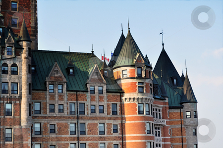 Chateau Frontenac stock photo, Quebec City landmark by Fernando Barozza