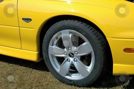 2006 GTO Front Corner Yellow stock photo, This is the Rebirth of a classic. by Joe Shortridge
