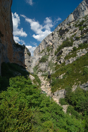 Verdonschlucht, Gorges du Verdon, Grand Canyon du Verdon stock photo, Die Verdonschlucht (frz. Gorges du Verdon), umgangssprachlich auch Grand Canyon du Verdon, ist eine Schlucht in der franz?sischen Provence, Departement Alpes-de-Haute-Provence. - The Verdon Gorge (in French: Gorges du Verdon or Grand canyon du Verdon), in south-eastern France (Alpes-de-Haute-Provence), is a river canyon that is considered by many to be Europe's most beautiful. by Wolfgang Heidasch