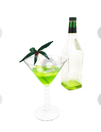 Alcoholic beverage stock photo, Alcholic beverage on  a white background by John Teeter