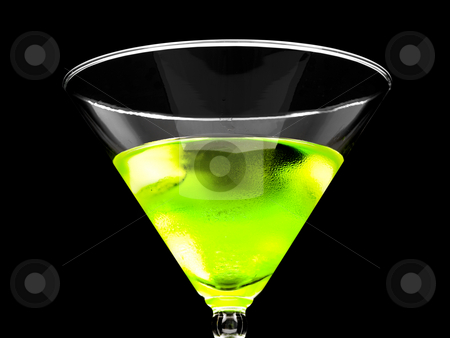 Close up of Alcoholic beverage stock photo, Close up of Alcoholic Beverage on a black background by John Teeter