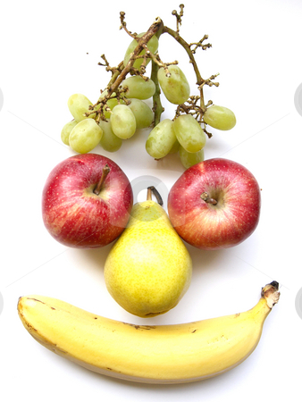 Fruit Face stock photo, A fruit face by Lars Kastilan