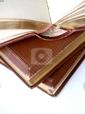 Old books stock photo, Old books, one open by Lars Kastilan