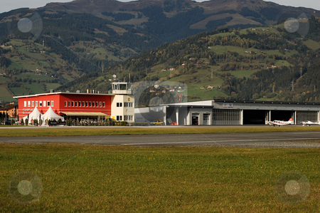 Zell airfield in Fall stock photo, Zell (LOWZ) airfield in Fall by Alexander Gerzabek