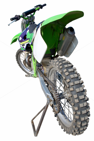 The sports motorbike. stock photo, The sports motorbike on the white background. by Viachaslau Barysevich