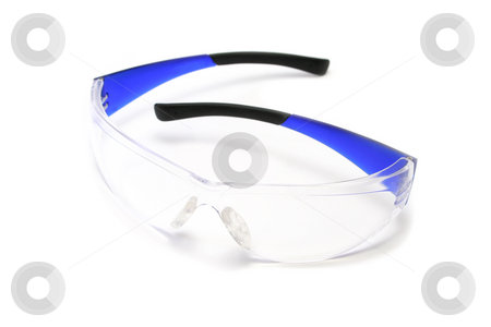 Safety Glasses stock photo, Pair of strong plastic safety glasses for eye protection by Helen Shorey