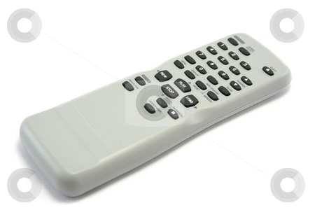 Video Remote Control stock photo, Generic video remote control, focus on play and stop buttons by Helen Shorey