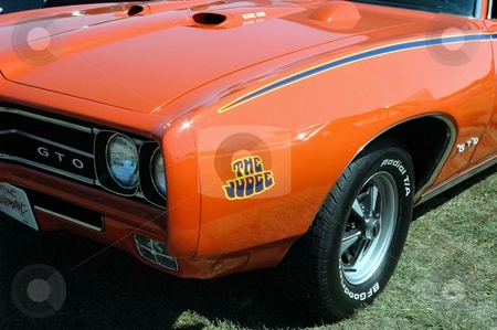 69 GTO Judge Front Corner stock photo, Classic Lines of an American beauty. by Joe Shortridge