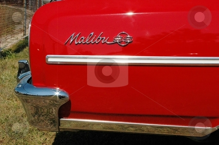64 Chevelle rear Quarter Red stock photo, Classic Lines of an American beauty. by Joe Shortridge
