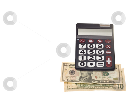 Hand calculator stock photo, A dark calculator machine with big numbers and  buttons by Ivan Montero