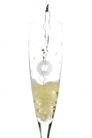 Champagne glass celebration stock photo, Close up of an isolated glass cup of champagne by Ivan Montero