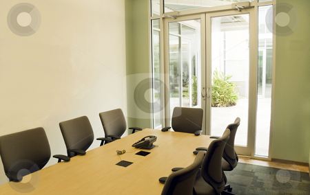 Conference Room stock photo, A small modern conference room for office meeting by Kevin Tietz