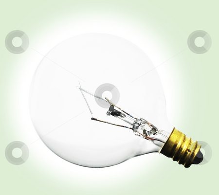 Light Bulb lit stock photo, Light Bulb lit by John Teeter