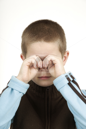Sad boy stock photo, This boy starts to cry by Tom P.