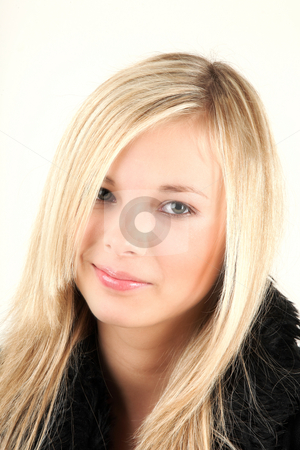 Very attractive teenager stock photo, Very attractive teenager is looking directly into camera by Tom P.