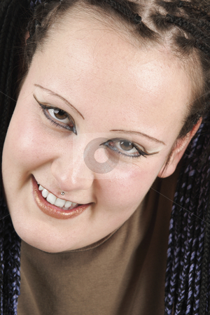 Young woman stock photo, Young woman shows nice smile by Tom P.