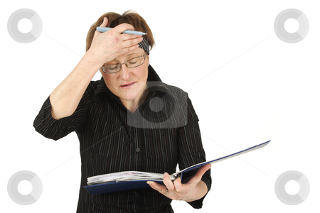 Lawyer stock photo, Elderly lawyer has an idea by Tom P.