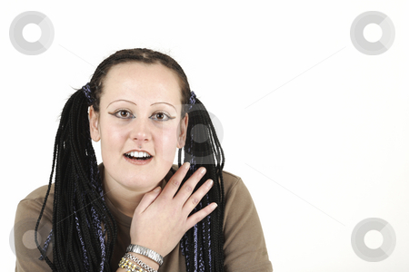 Indian woman stock photo, Indian woman says hallo by Tom P.