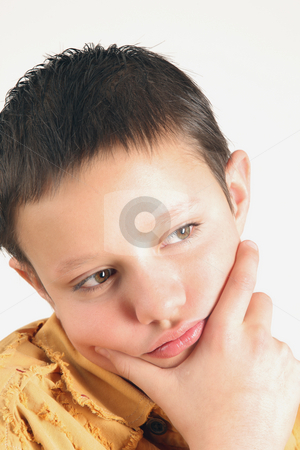 Teenager stock photo, Young teenager is thinking about... by Tom P.