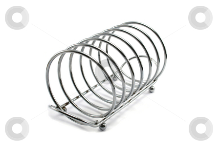 Empty Toast Rack stock photo, Stainless steel spring style toast rack by Helen Shorey