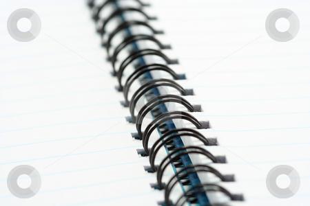 Spiral Binding stock photo, Macro shot of a black wire spiral binding by Helen Shorey