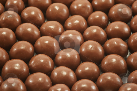 Chocolates Background stock photo, Malted honeycomb balls covered in chocolate by Helen Shorey