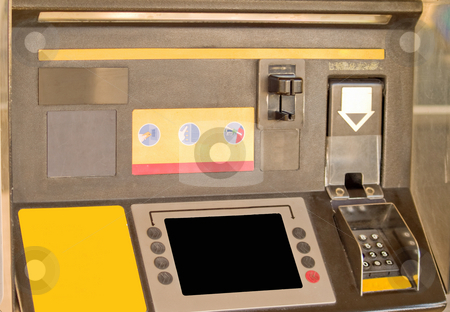 Close up of a Self service machine stock photo, Close up of a Self service machine in service station by Phillip Dyhr Hobbs