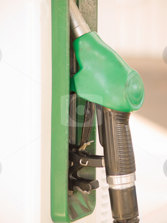 Service Station - Fuel nozzle with copy space stock photo, Service Station - Fuel nozzle with copy space by Phillip Dyhr Hobbs