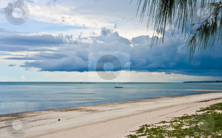 Peace after the storm stock photo, Peace after the storm on an empty beach in southern Africa by Raphael Vaney