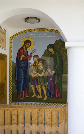 Icons stock photo, Christian icon paintings with saints by Desislava Dimitrova